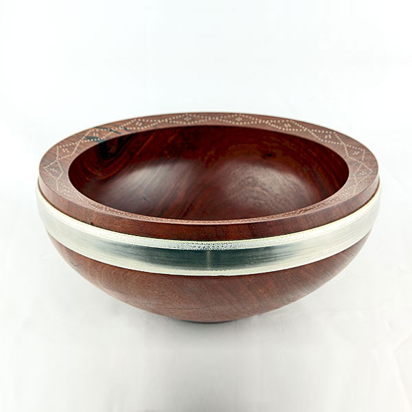 Tim Stone - REDGUM BOWL WITH PEWTER INLAY